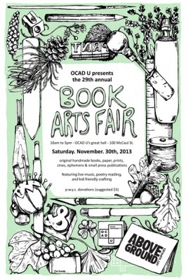 Book arts fair poster