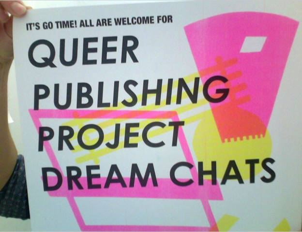 Dream chat poster with pink and yellow highlights