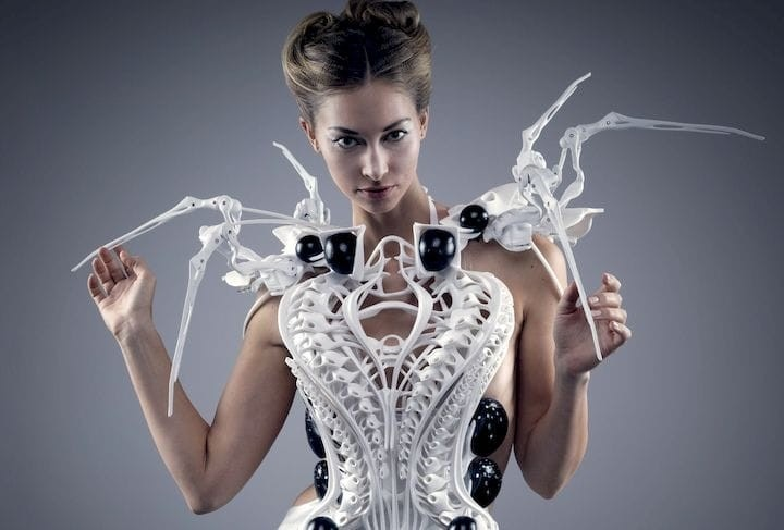 The 3D printed Spider Dress by Anouk Wipprecht [Source: Anouk Wipprecht]