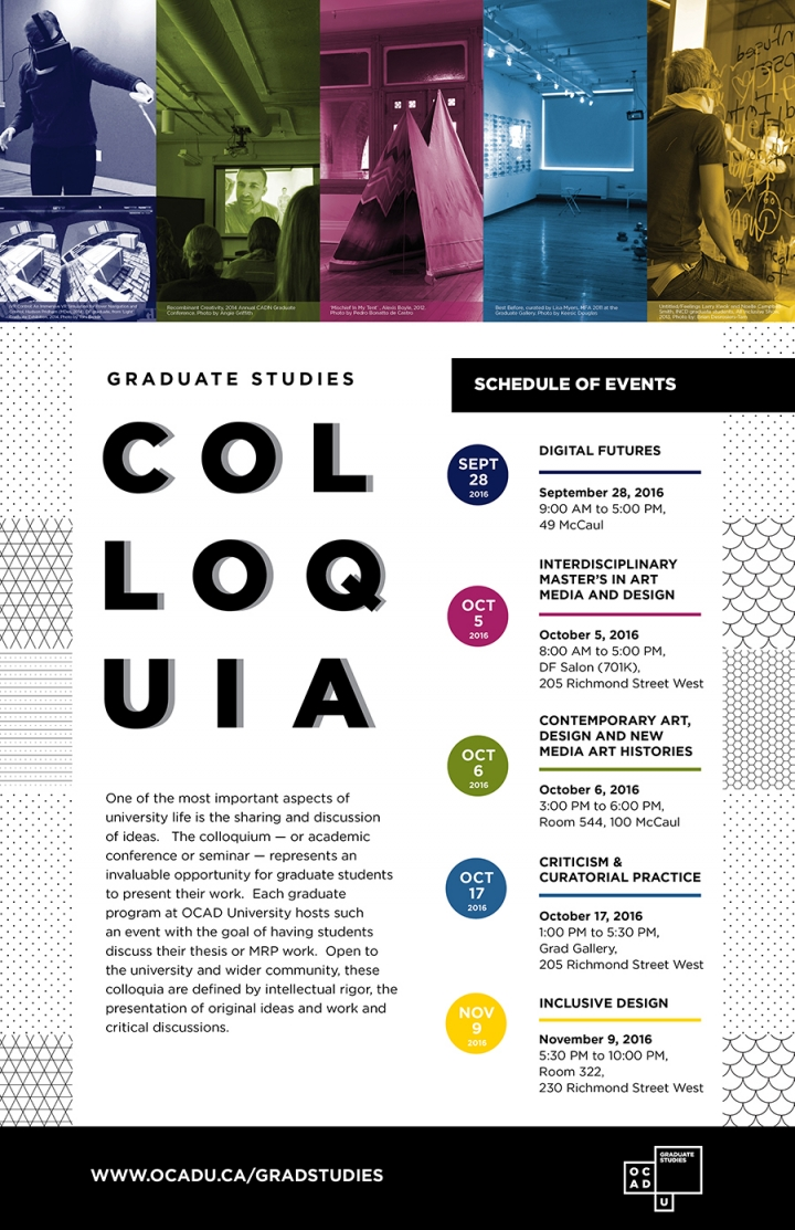 Graduate Studies 2016 Colloquia