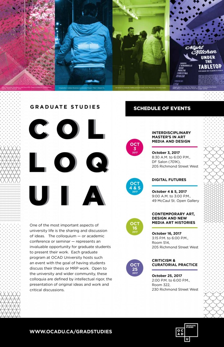 Colloquia 2017
