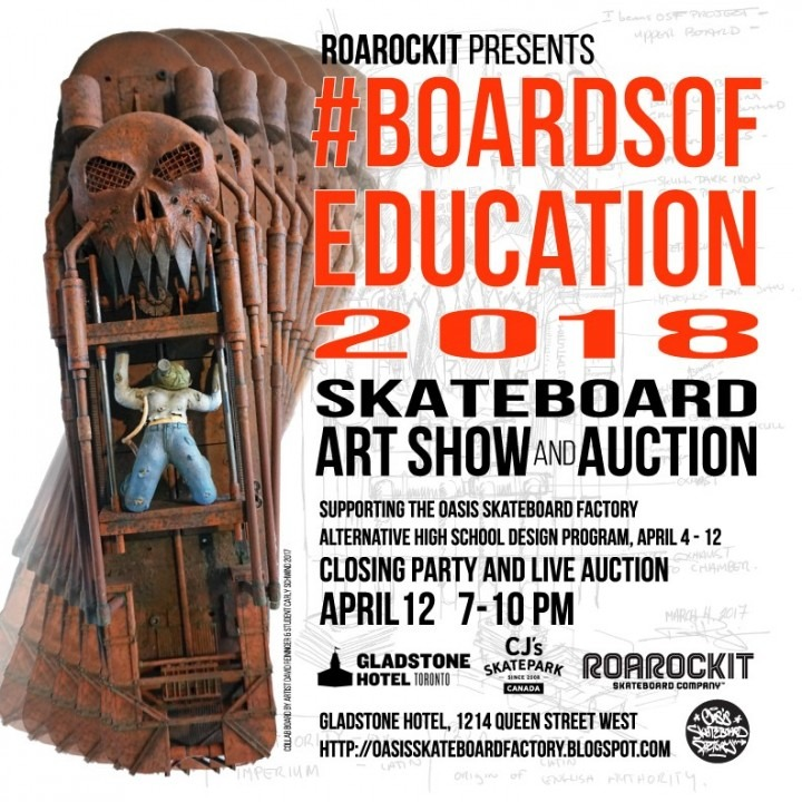 Roarrockit presents Skateboard Art Show and Auction