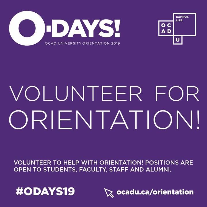 Image graphic for orientation volunteers