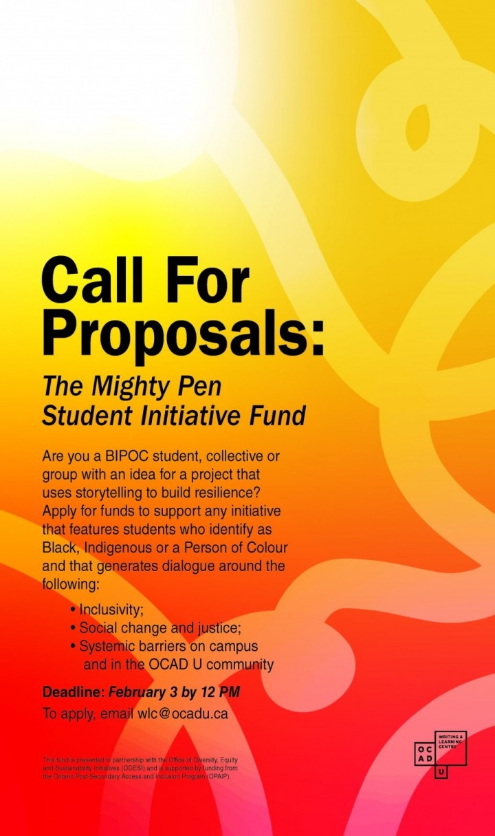 Call for Proposals poster