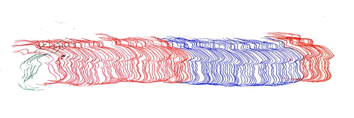 repetative linear forms in red and blue