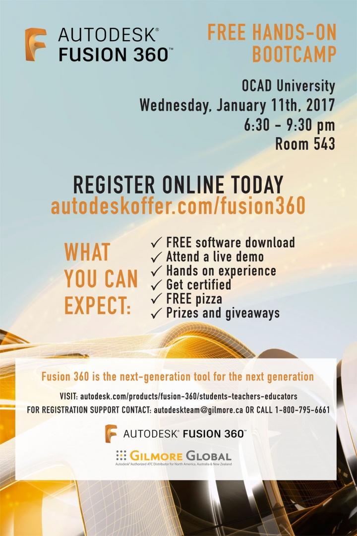AutoDesk Fusion 360 Free Bootcamp