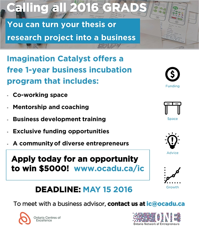 Call all 2016 Grads You can turn your thesis or research project into a business poster with event info
