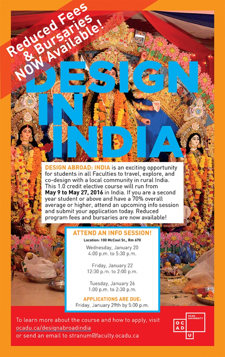 Design in India poster with event info