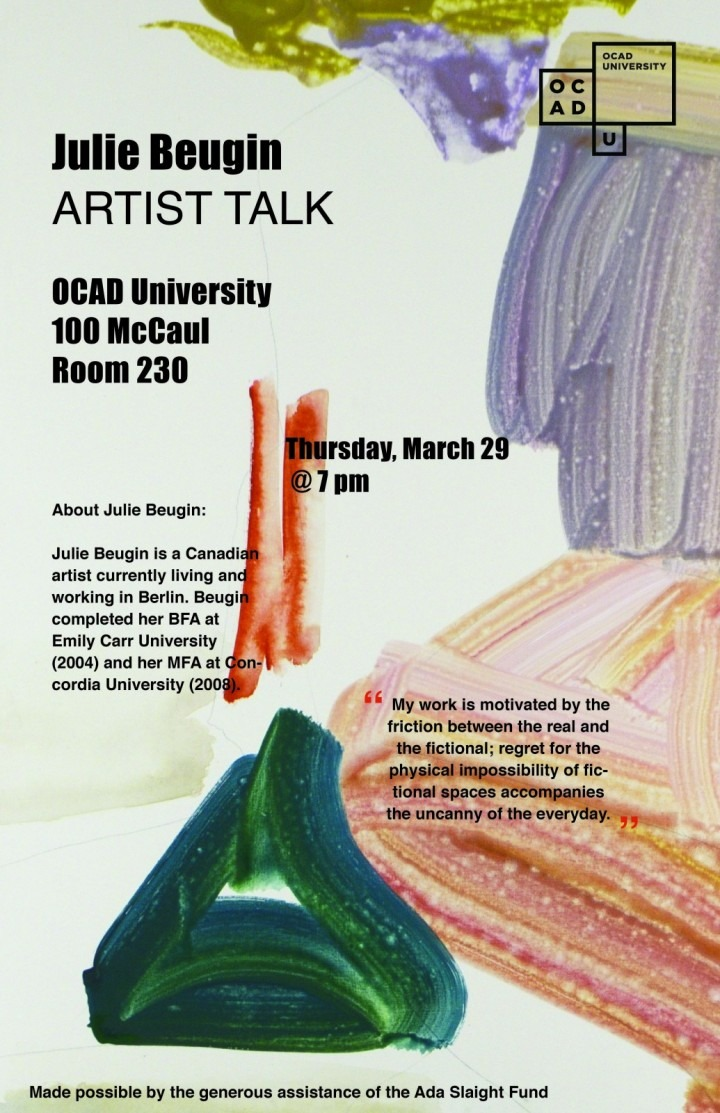 Julie Beugin, Public Talk poster