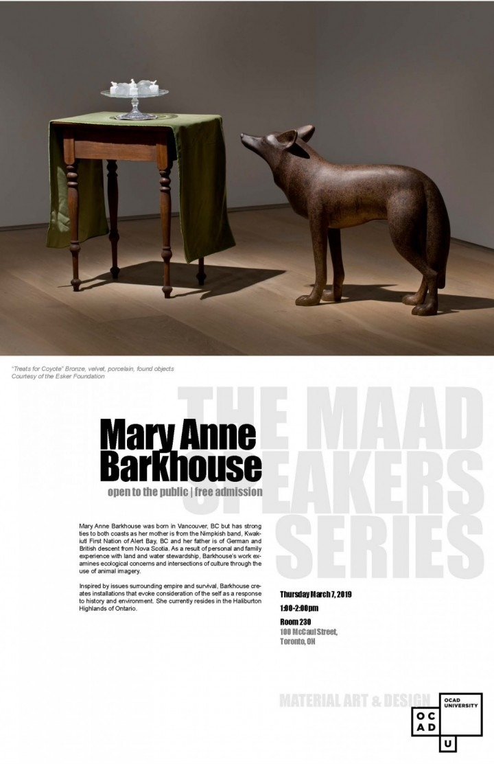Mary Anne Barkhouse MAAD speaker series