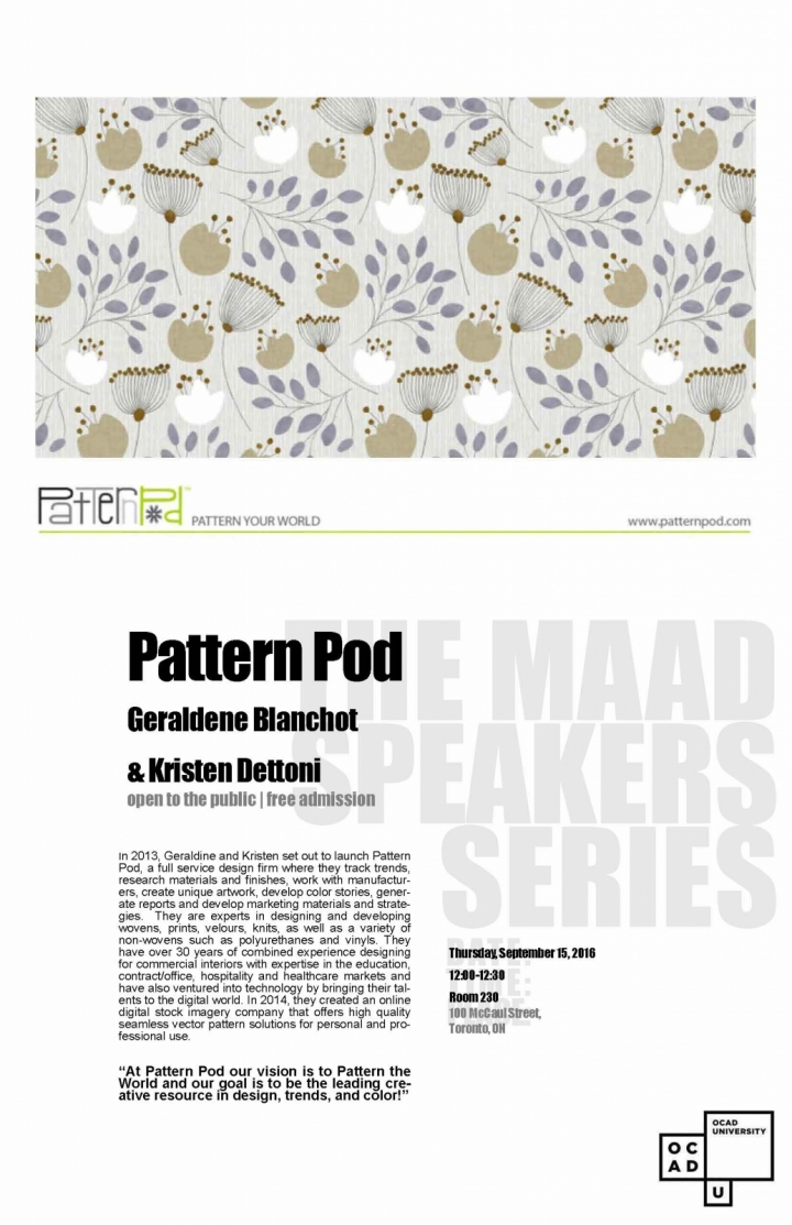 MAAD Speaking Series Pattern Pod