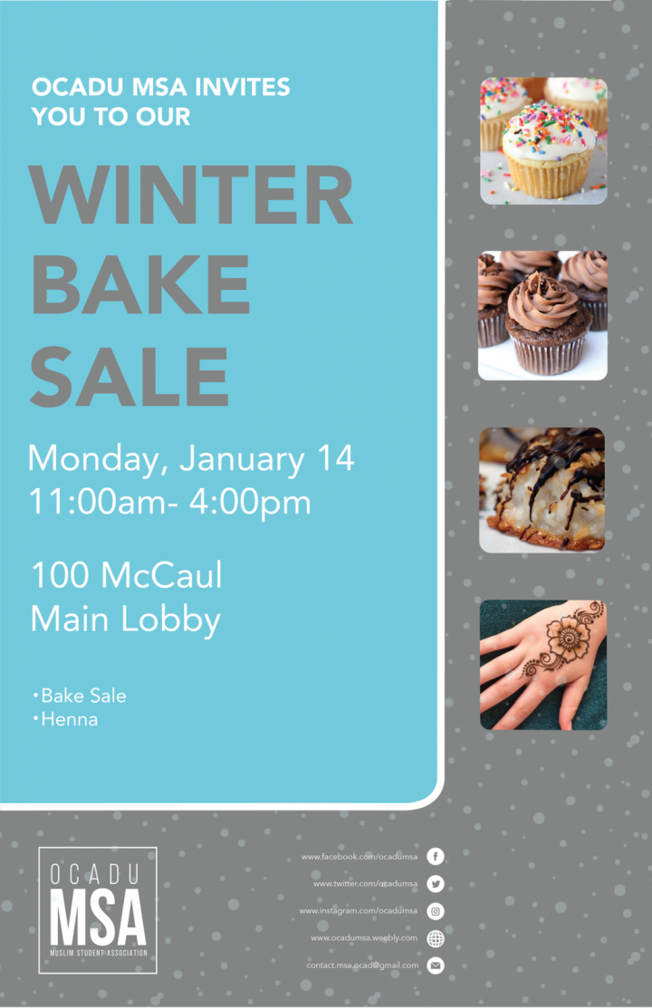 MSA Winter Bakesale