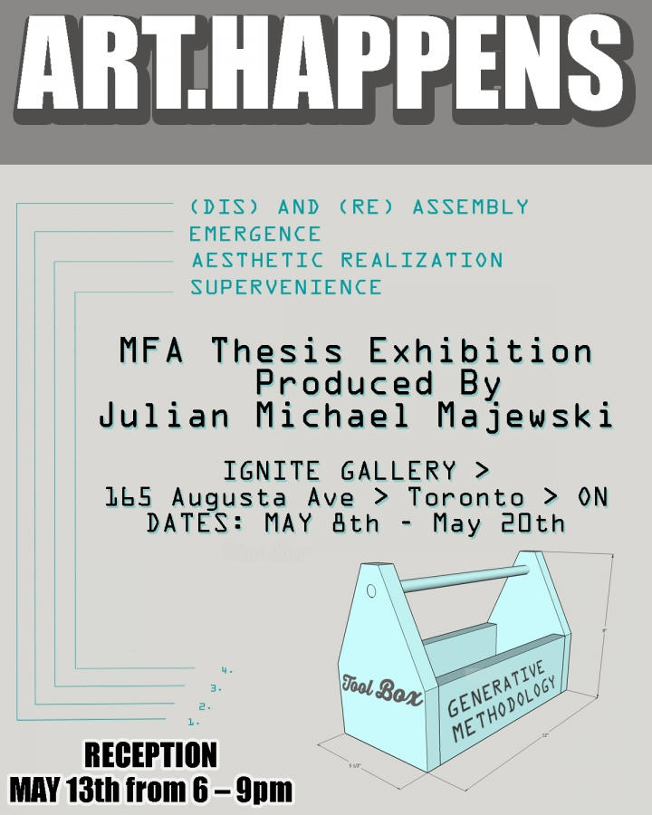 illustration of toolbox - exhibition poster