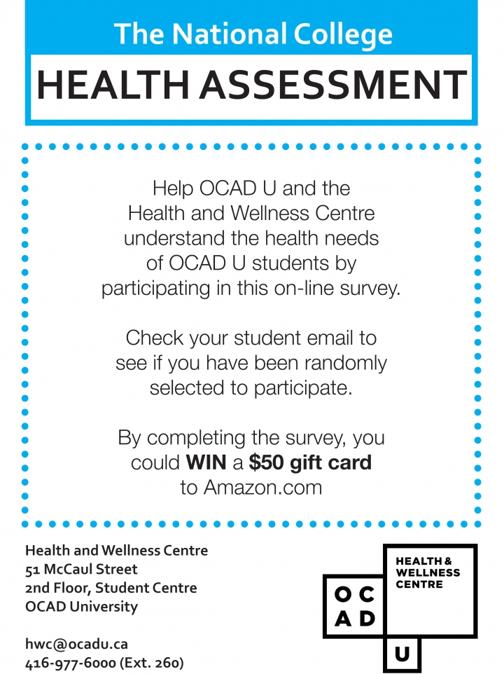 The National College Health Assessment Poster with page info