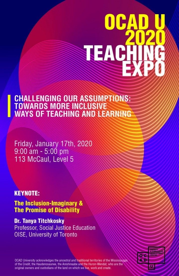 OCAD U 2020 Teaching Expo poster