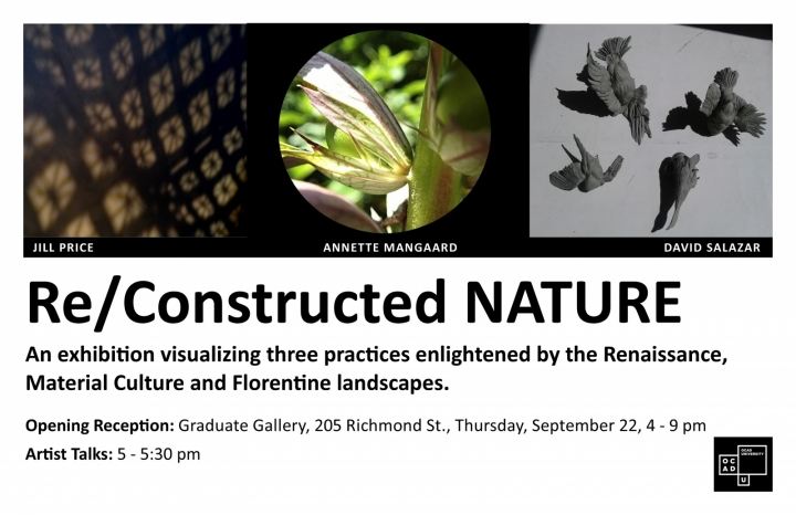 Exhibition Poster for Re/Constructed NATURE