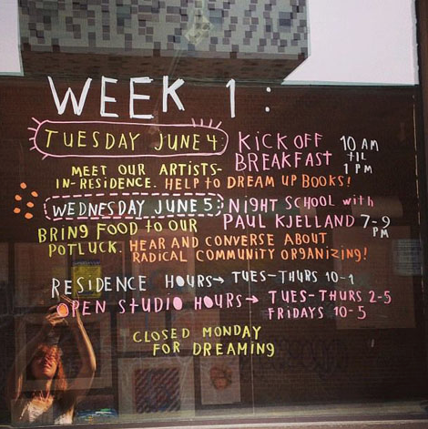 Student Gallery Week 1 schedule with event info