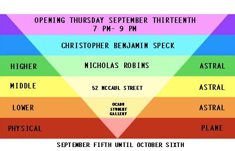 Opening Thursday September 13th 7PM-9PM 52 McCaul St. OCAD U Student Gallery Sep 5 - Oct 6