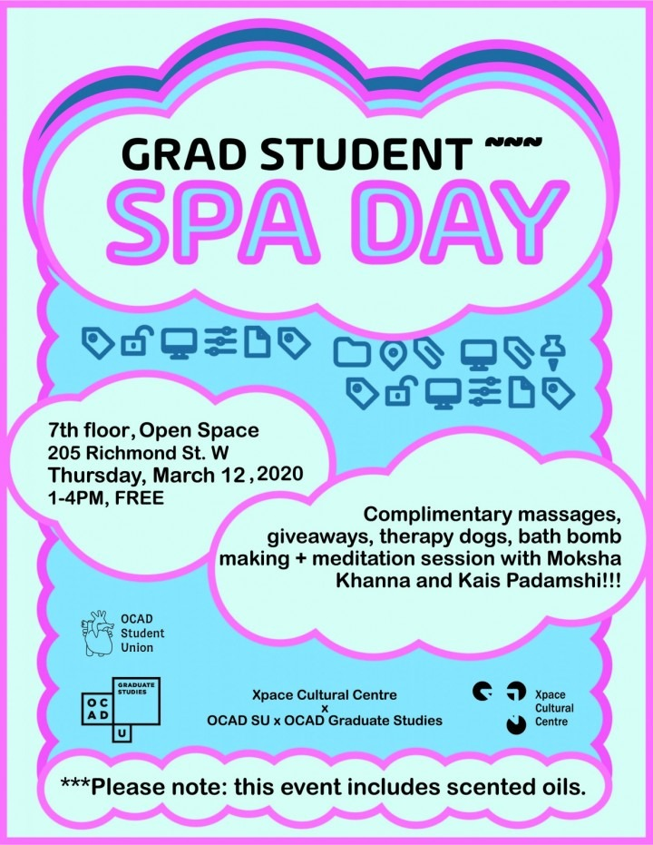 Grad Spa Day  There's nothing better to ignite imagination than shifting from stress to balance. Enjoy complimentary massages, ""