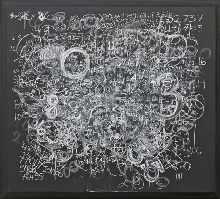 white swirls on black background
