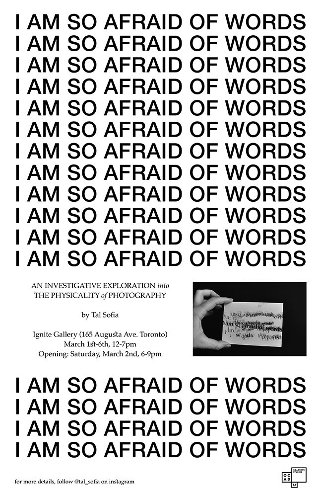 I am so afraid of Words