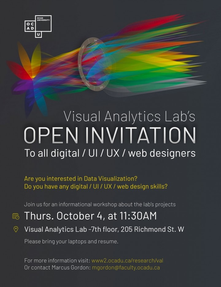 Visual Analytics Lab invites all digital / UI / UX / web designers