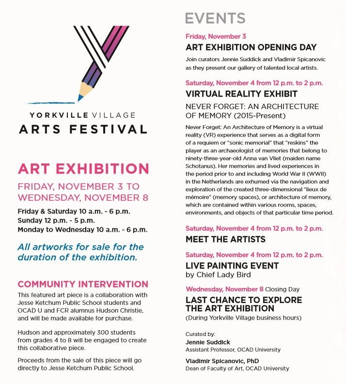 Yorkville Village Arts Festival flyer