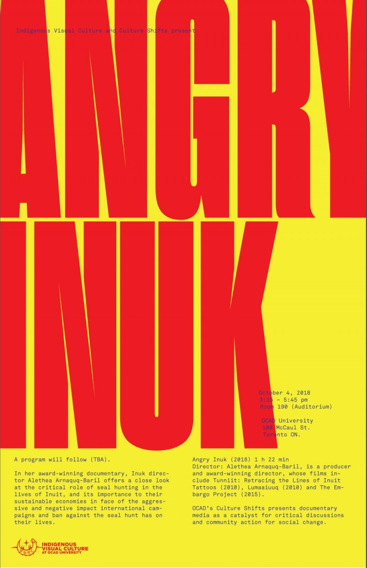 "Poster for ""Angry Inuk"" film"