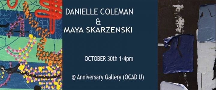 Danielle Coleman & Maya Skarzenski poster with event info
