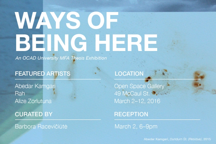 Ways of Being Here - Barbora Raceviciute MFA thesis exhibition