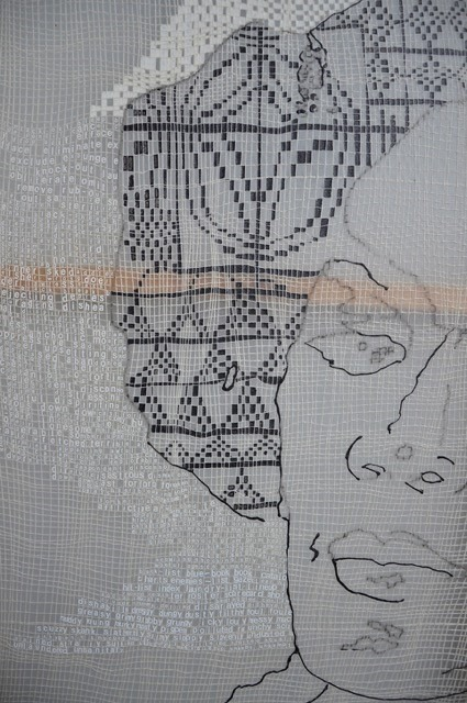 textile work, image of a face