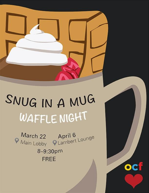 Snug in a Mug waffle night poster