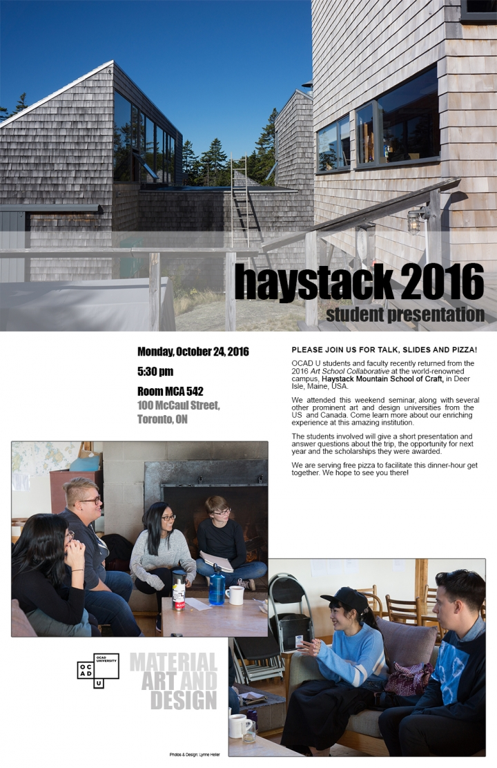 haystack 2016 student presentation poster with event info