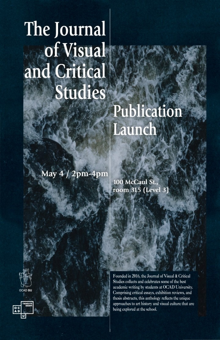 Visual and Critical Studies Journal Publication Launch poster