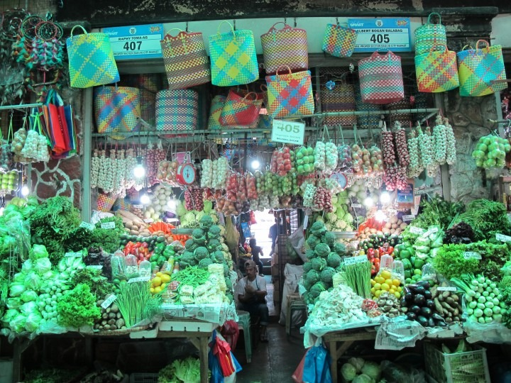 Photograph of vegetables in market stall of Baguio City Public Market vegetable section, Baguio Philippines