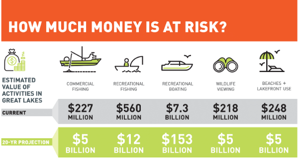 Graphic depicting costs associated with invasive species