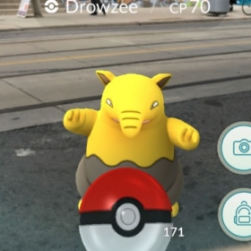 Screenshot from Pokemon GO