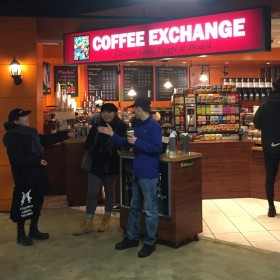Coffee Exchange's main location inside the Village by the Grange food court