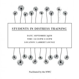 Supporting Students in Distress Sept 29, Lambert, 12-1