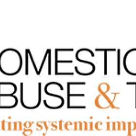 Event Logo. Black and orange text spelling the name of the project