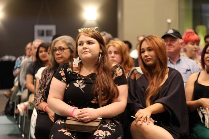 Students Megan Felehey and Kaia'tanoron Dumoulin
