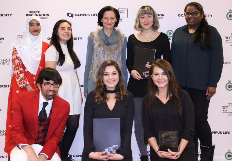 Student volunteer award winners with Dr. Sara Diamond
