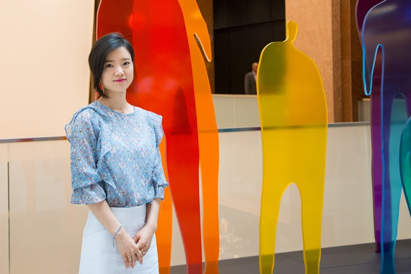 Chaewon Kim with her installation ALL TOGETHER HERE