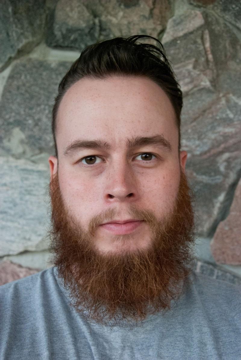 Portrait of a young bearded man, Couzyn van Heuvelen