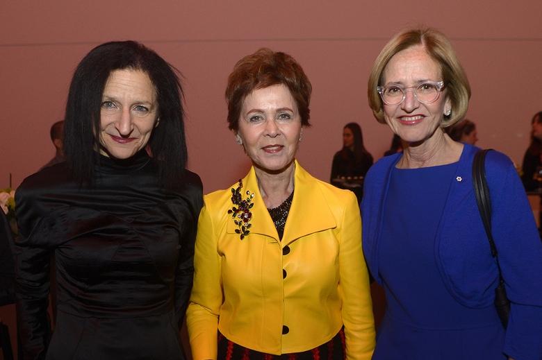 Sara Diamond with benefactors Rosalie sharp and Kiki Delaney