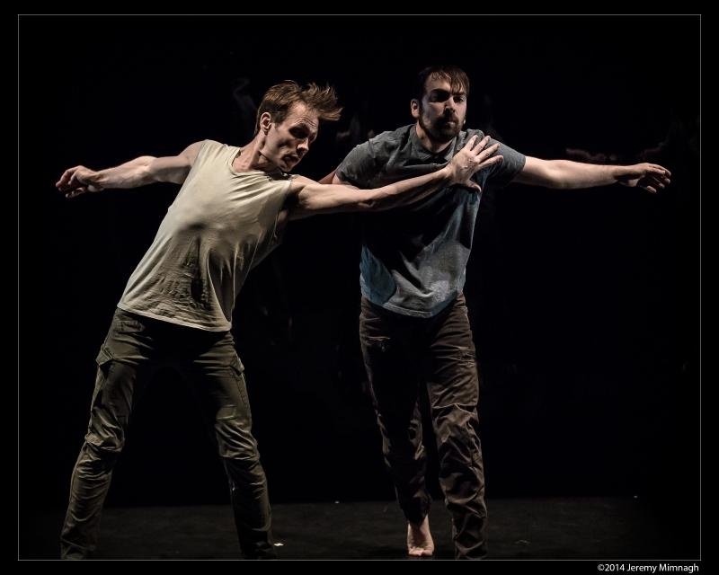 Image of two men dancing.