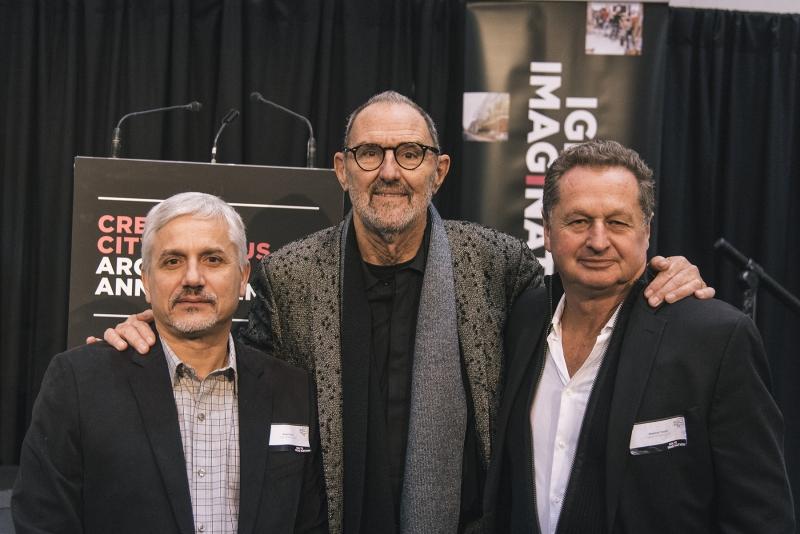Three male architects
