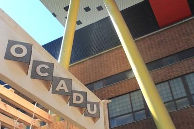 The Swing Lounge under construction at OCAD University