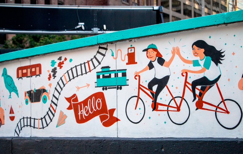 Mural by Emily May Rose and Heidi Berton