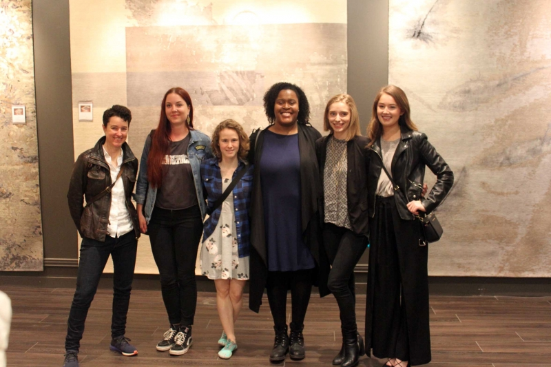 Students from the Surface Design 1 classes and Rachel Babineau